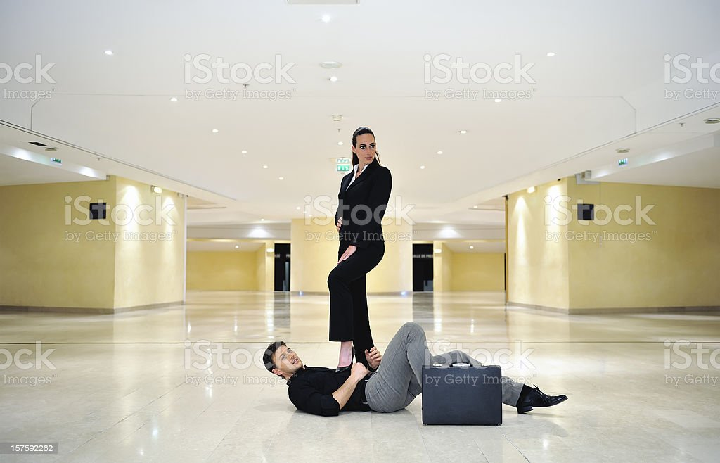 Battle of sex royalty-free stock photo