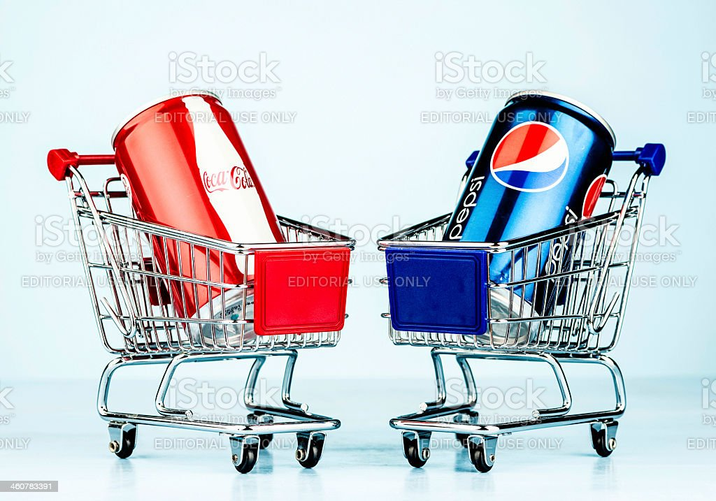 Battle of the Brands: Coke vs Pepsi stock photo