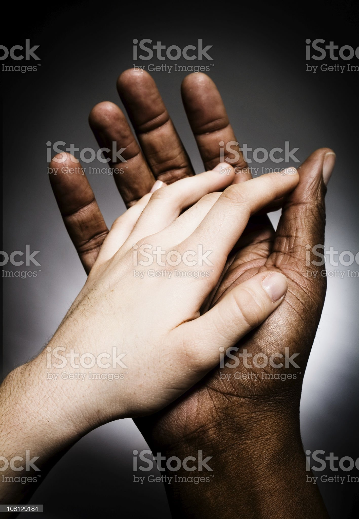 Battle of the Hands Series royalty-free stock photo