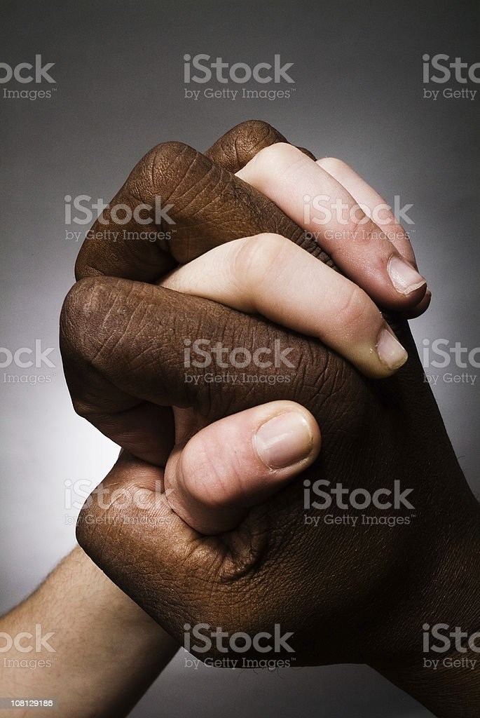 Battle of the Hands Series stock photo