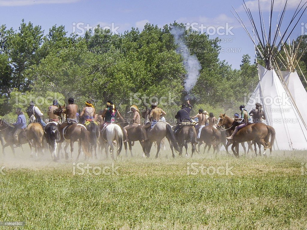 Battle of the Little Bighorn royalty-free stock photo