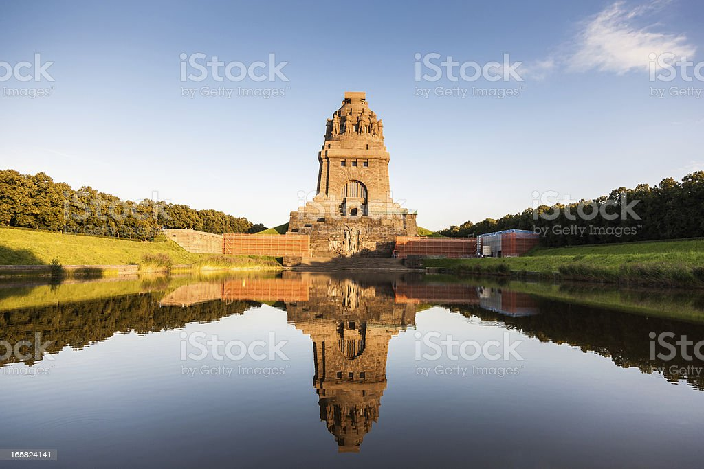 Battle of the Nations Monument Leipzig stock photo