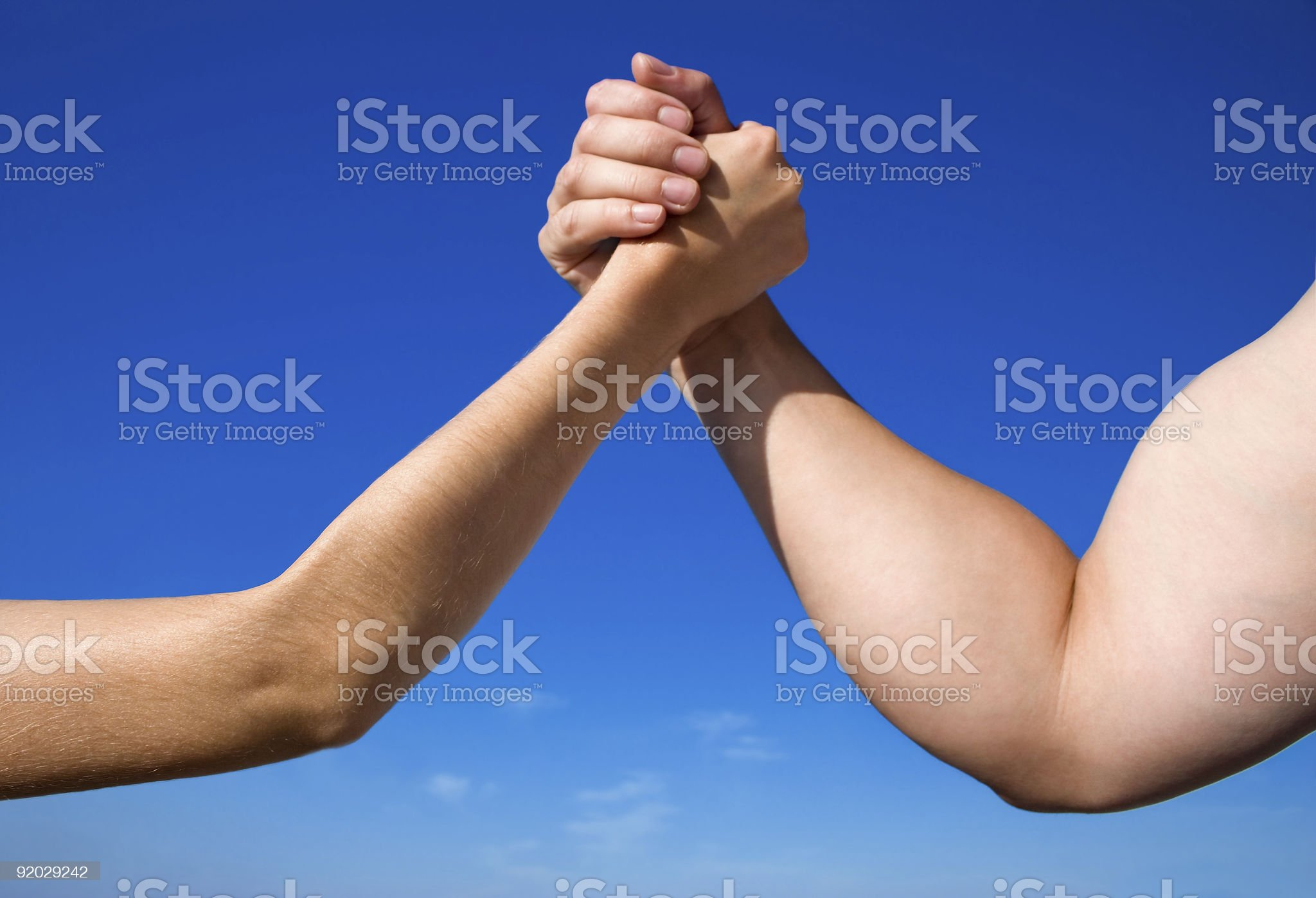 A battle of the sexes male Vs female royalty-free stock photo