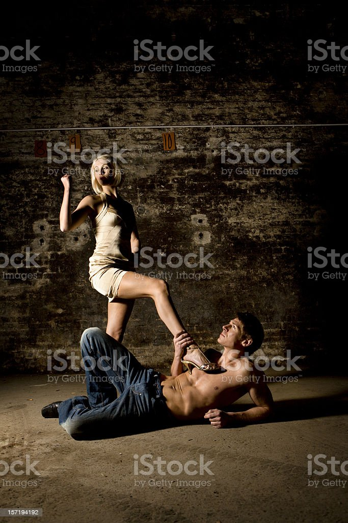 battle of the sexes royalty-free stock photo