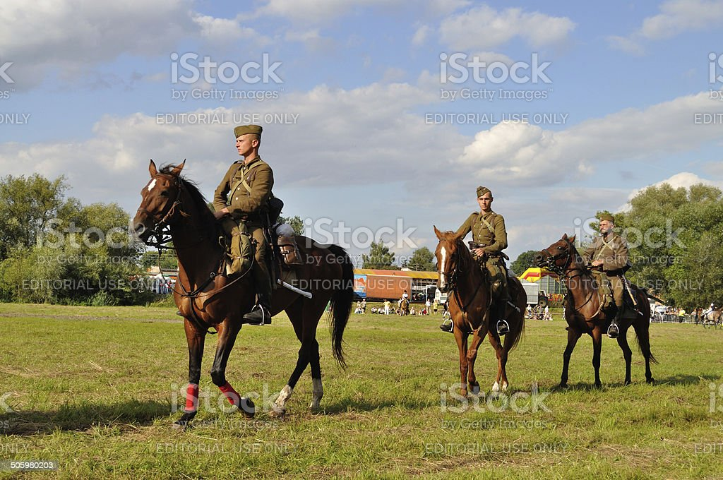 Battle of Warsaw stock photo
