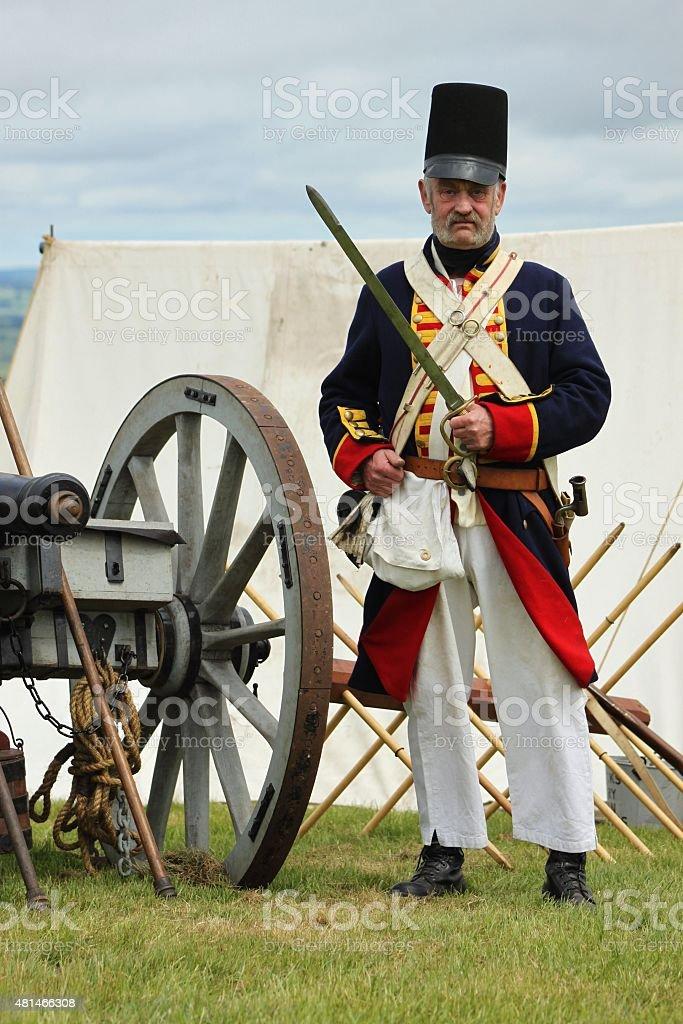 Battle of Waterloo Soldier. stock photo