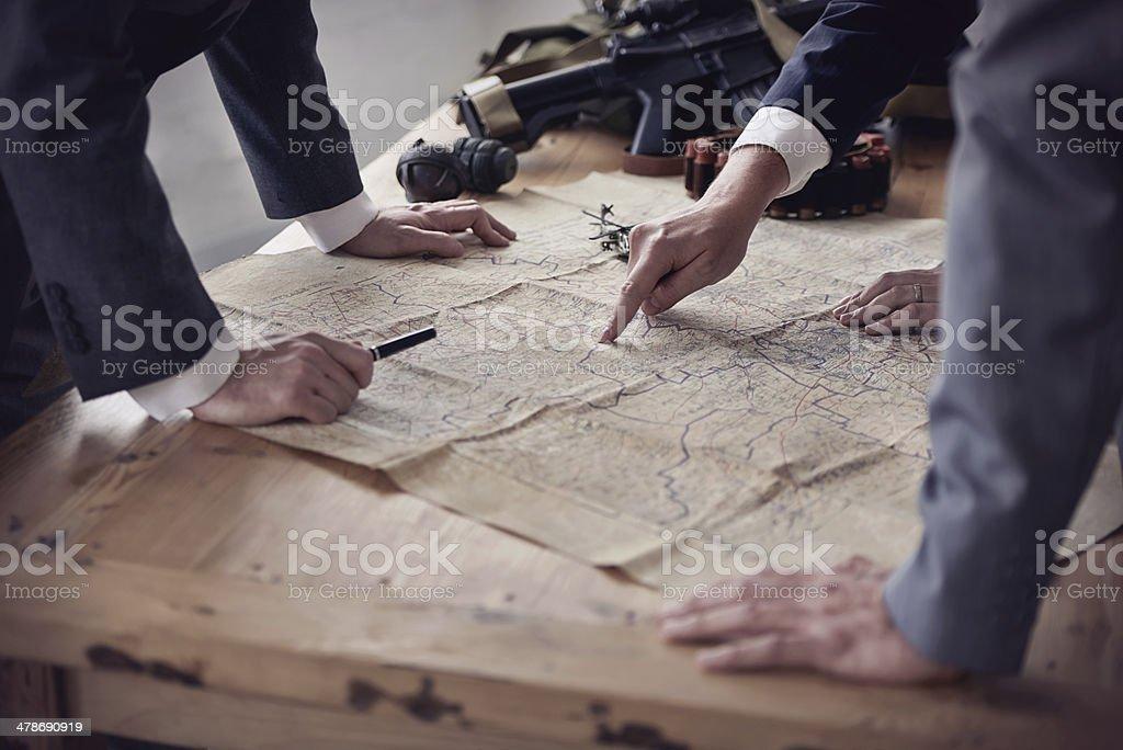 Battle tactics stock photo
