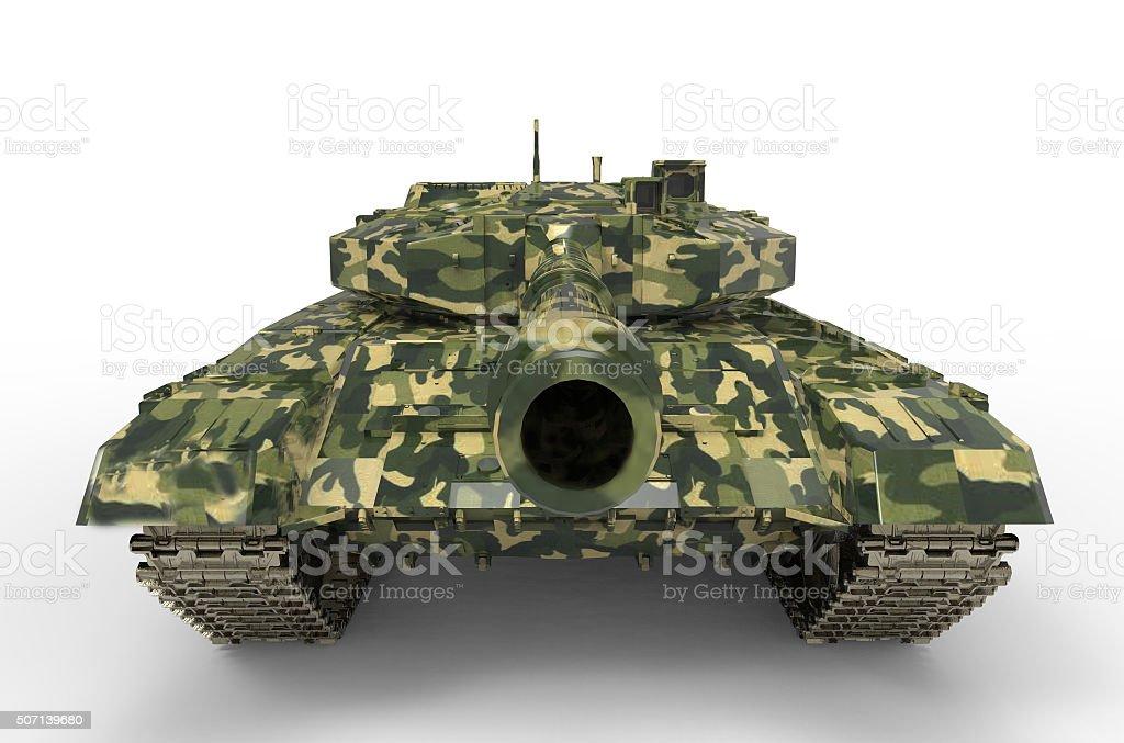 Battle Tank near isolated stock photo