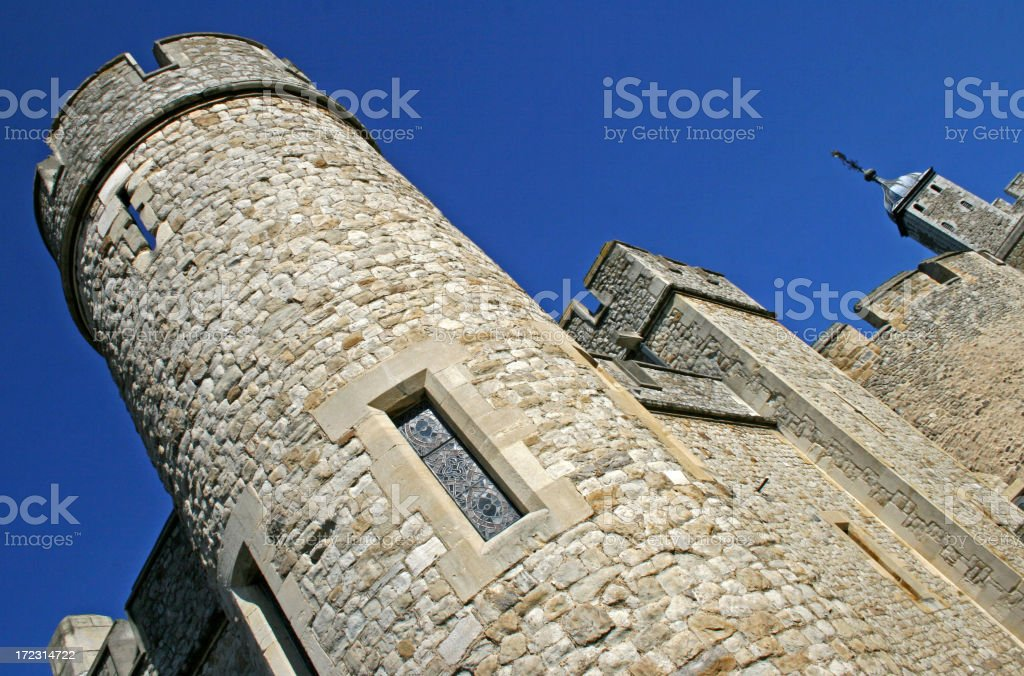 Battle walls at the Tower of London royalty-free stock photo