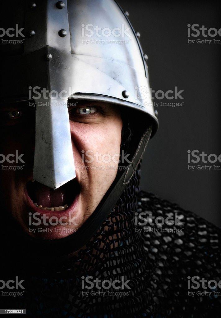 Battlecry Norman Knight royalty-free stock photo