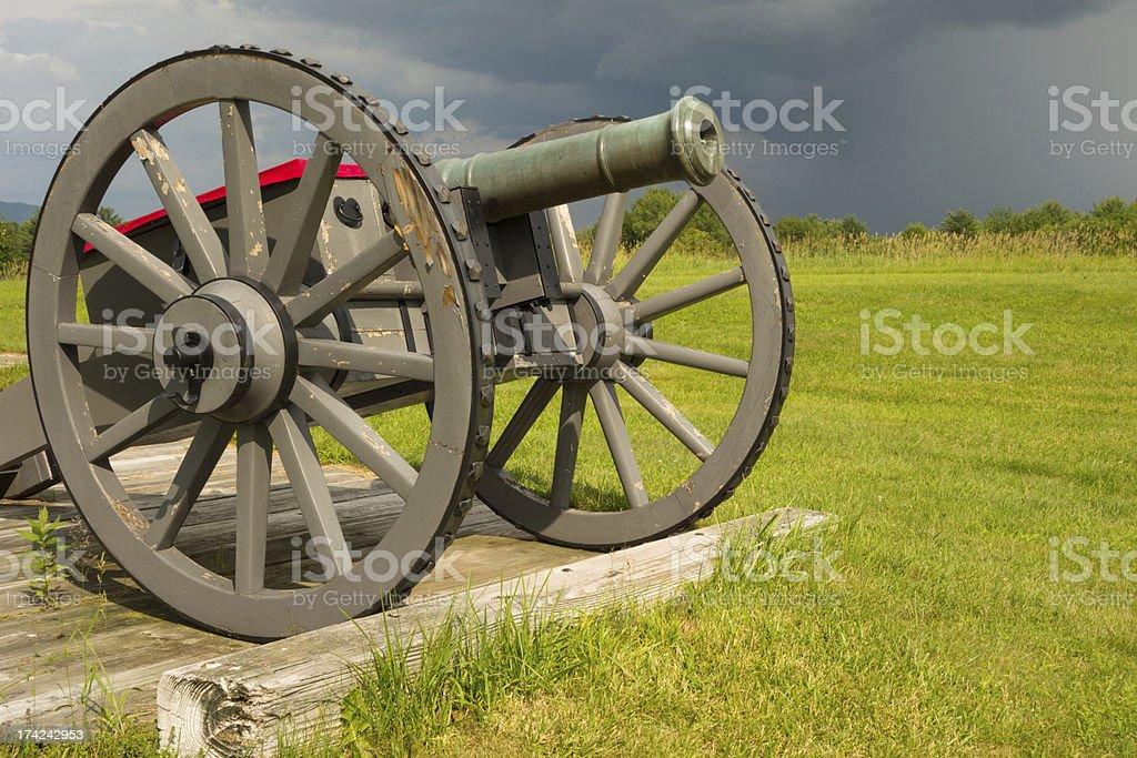 Battlefield Cannon stock photo