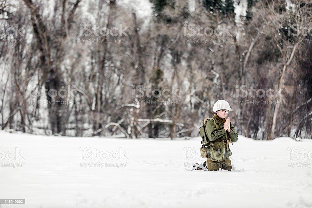 WW II: Battlefield Frontline Prayers stock photo