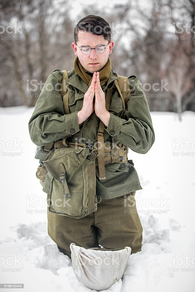 WW II: Battlefield Frontline Prayers stock photo