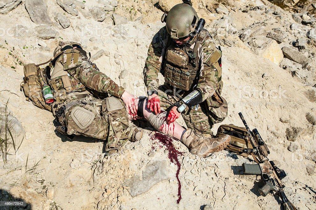 Battlefield medicine stock photo