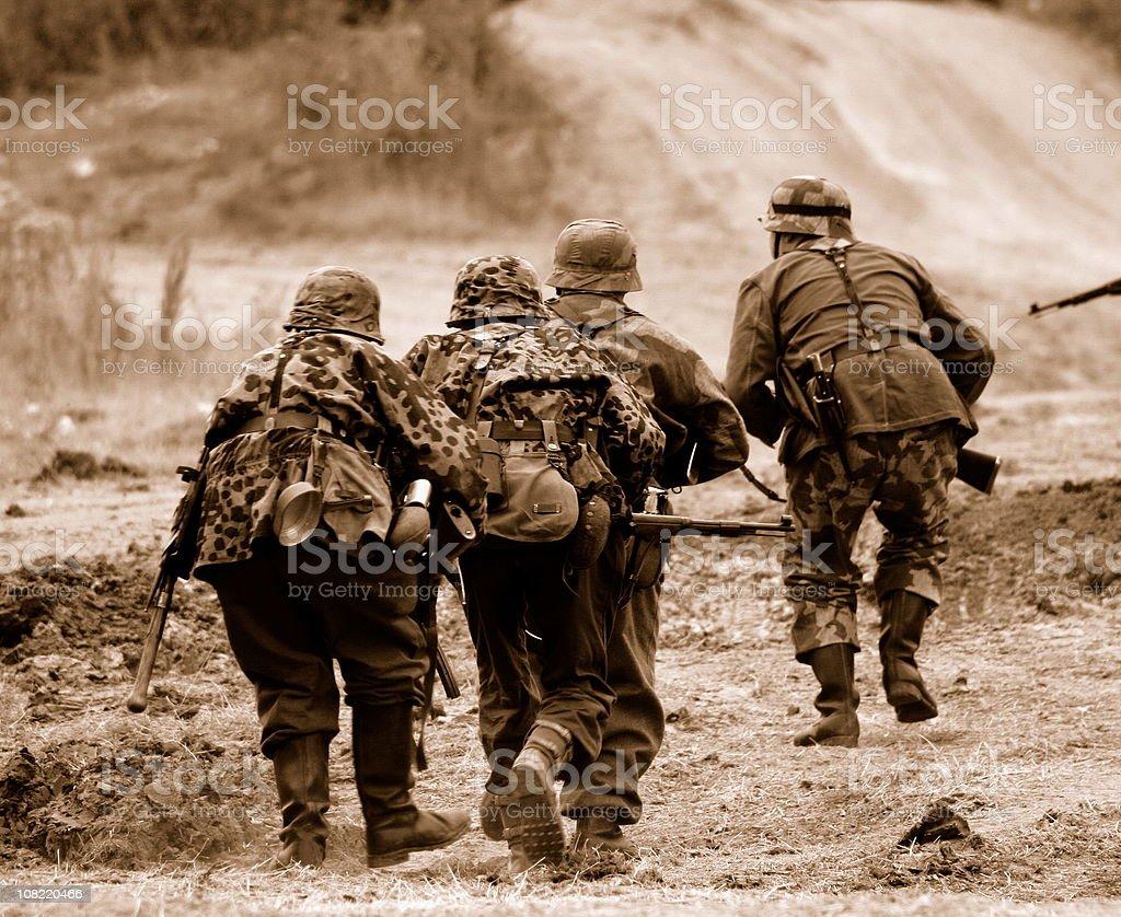 WW2 Battlefield  . stock photo