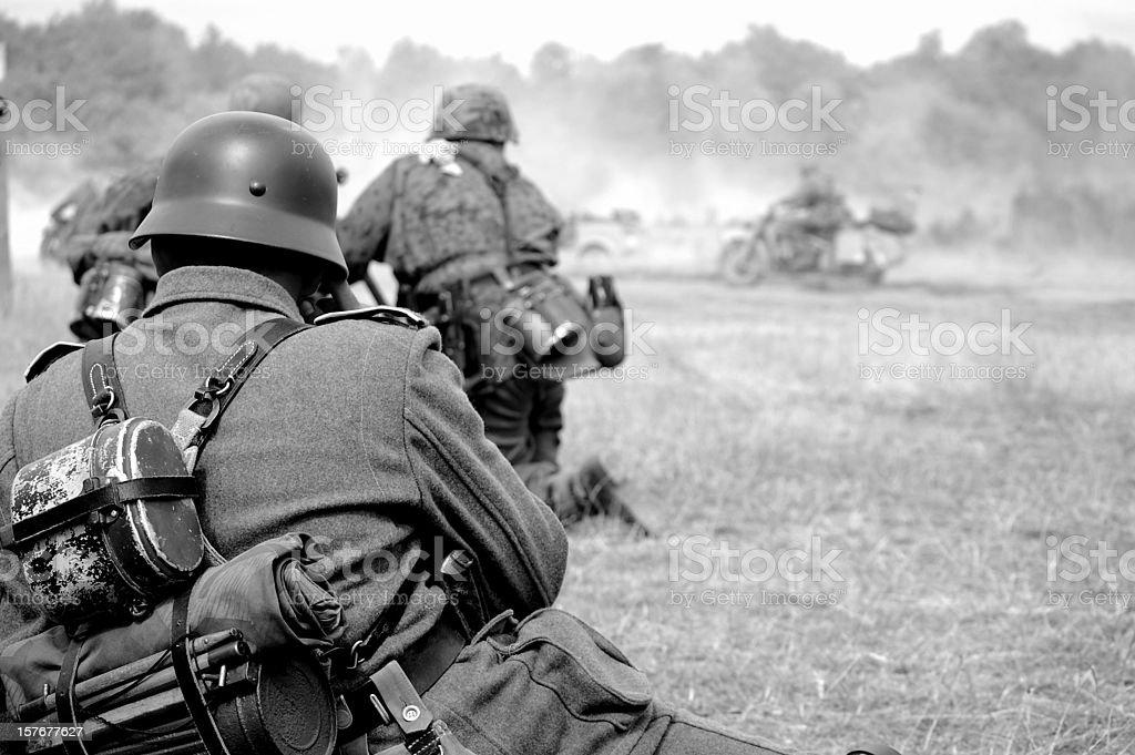 WW2 Battlefield. stock photo