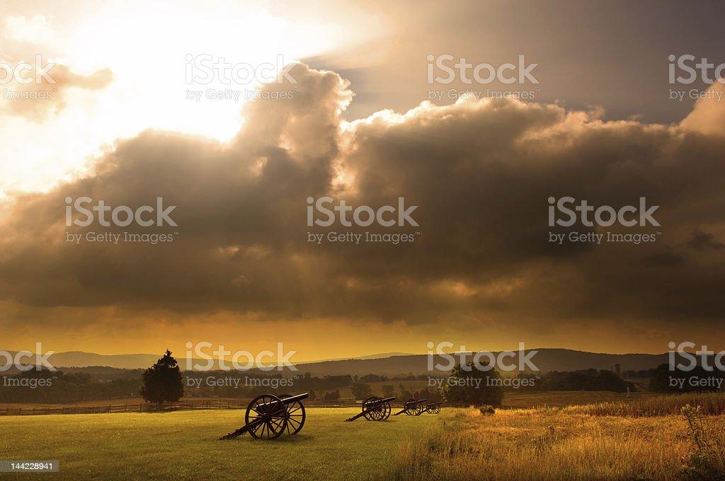 Battlefield Sunrise royalty-free stock photo