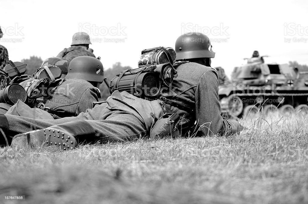 Battlefield Troops. stock photo
