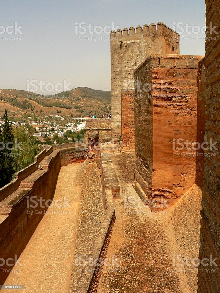 Battlement stock photo