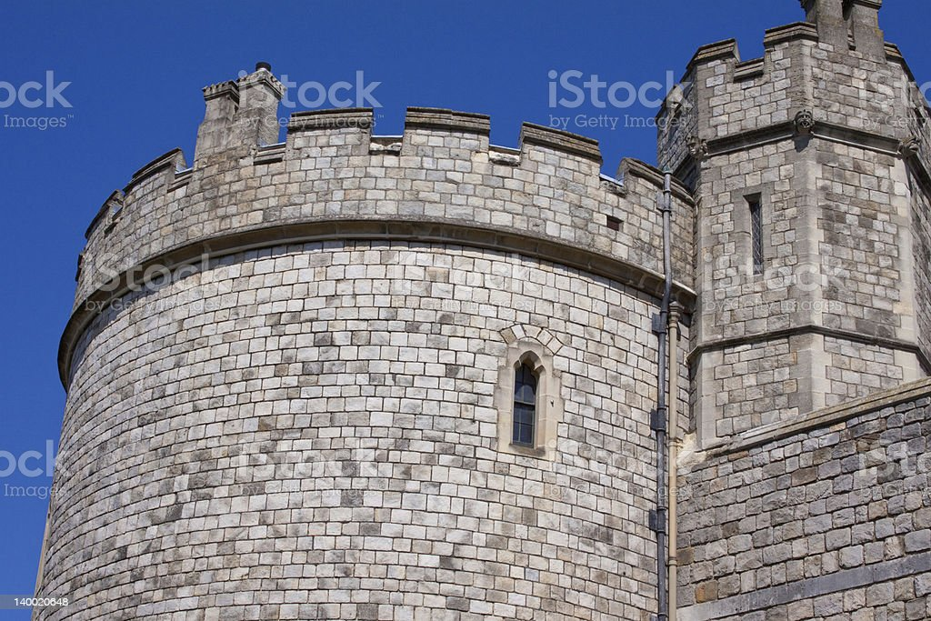Battlements stock photo