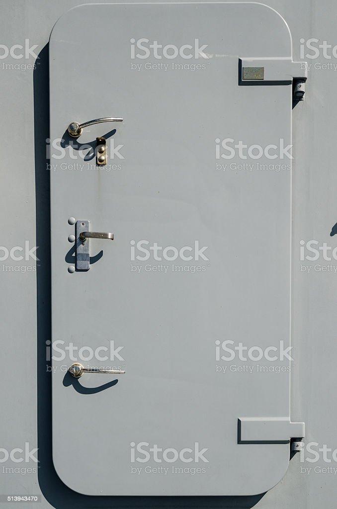 Battleship door, a close up stock photo
