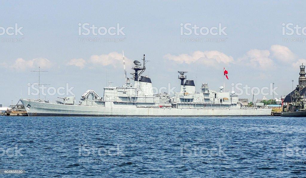 battleship in Copenhagen stock photo