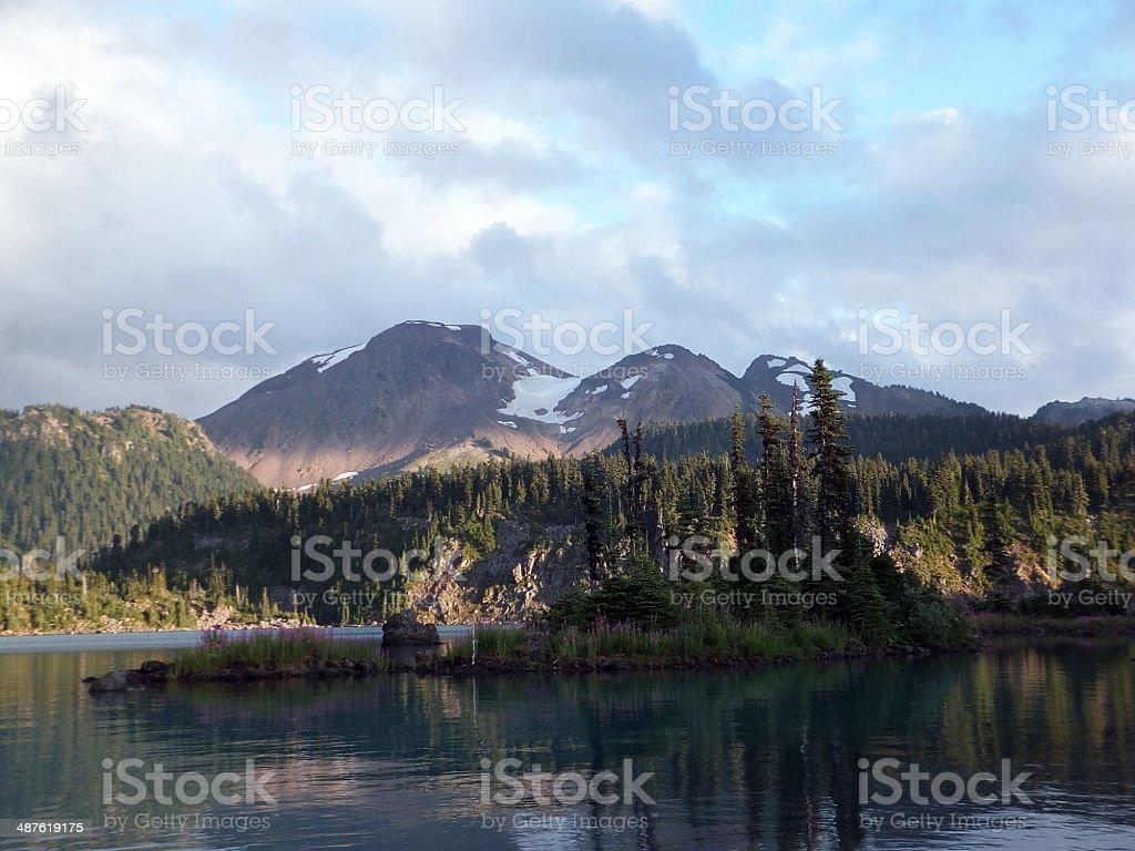 Battleship Islands, Garibaldi Lake stock photo