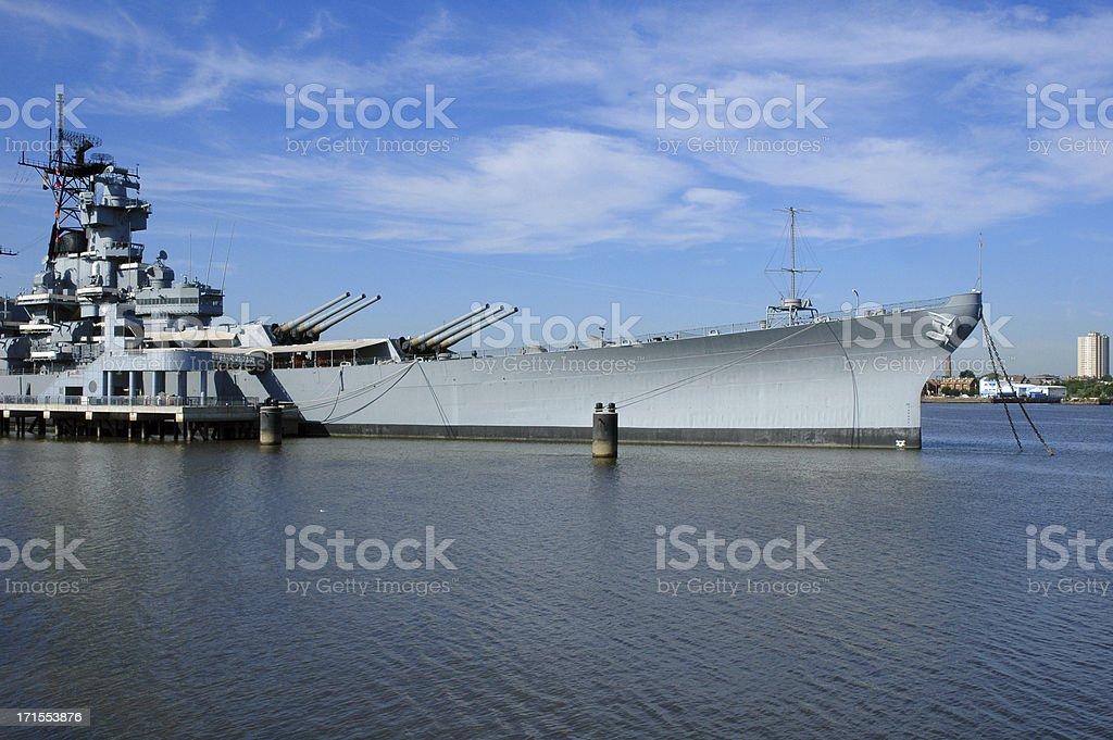 battleship new jersey royalty-free stock photo