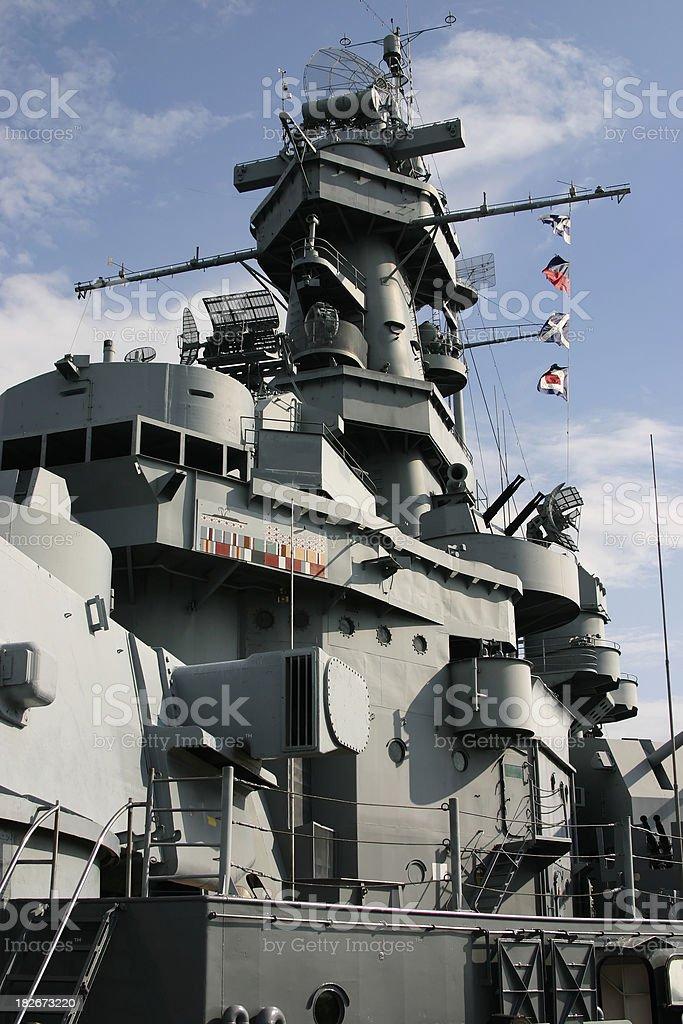 Battleship USS Alabama royalty-free stock photo