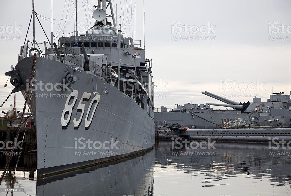 Battleship USS Joseph P. Kennedy, Jr. stock photo