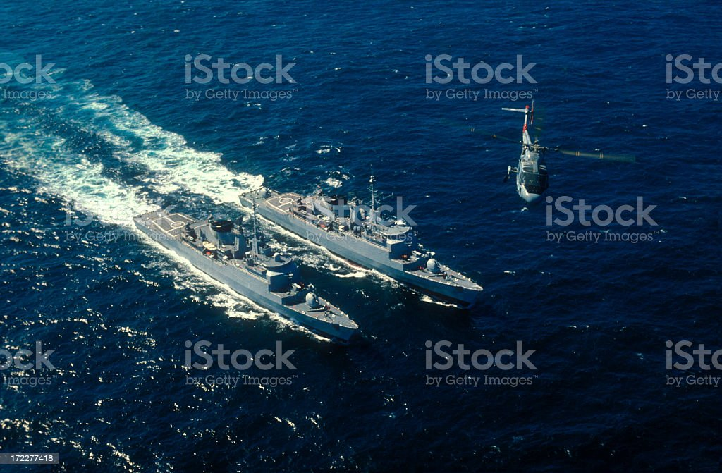 Battleships royalty-free stock photo
