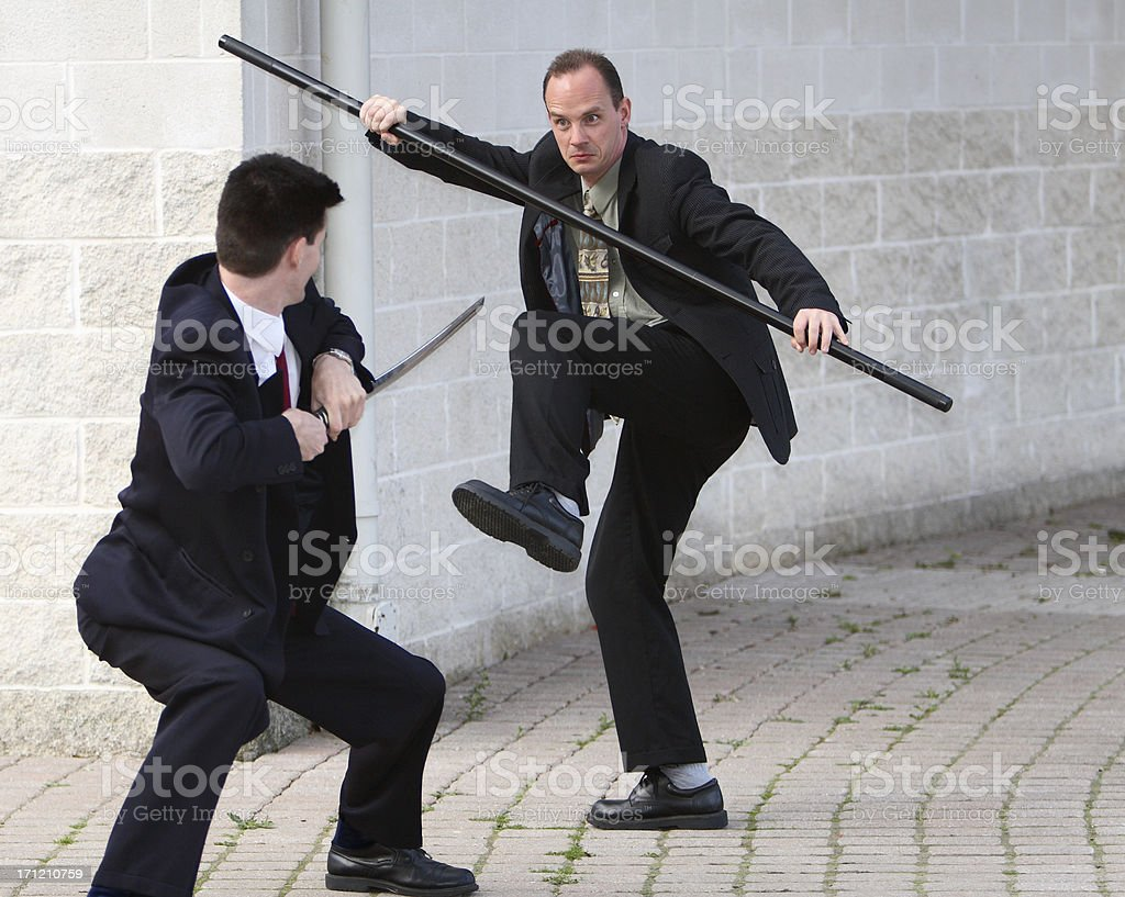 Battling For Business stock photo