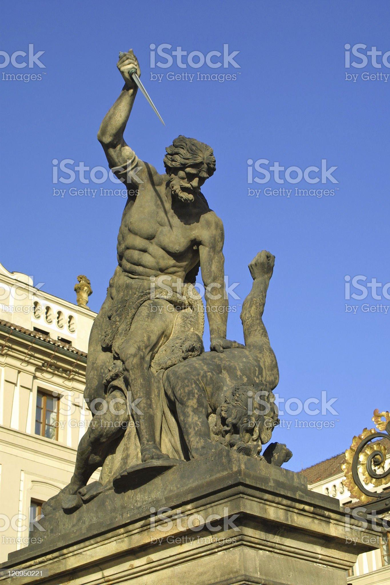 Battling Titan in Prague royalty-free stock photo