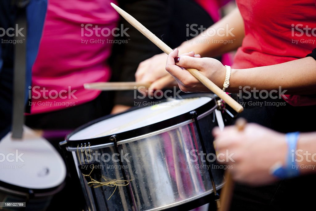 Percussion batucada royalty-free stock photo