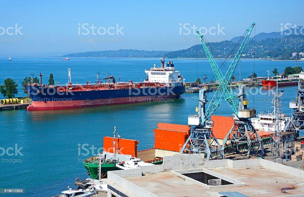 Batumi Harbor stock photo