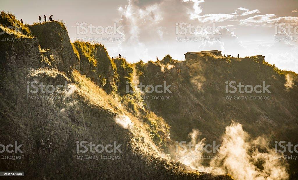 Batur Volcano Crater royalty-free stock photo