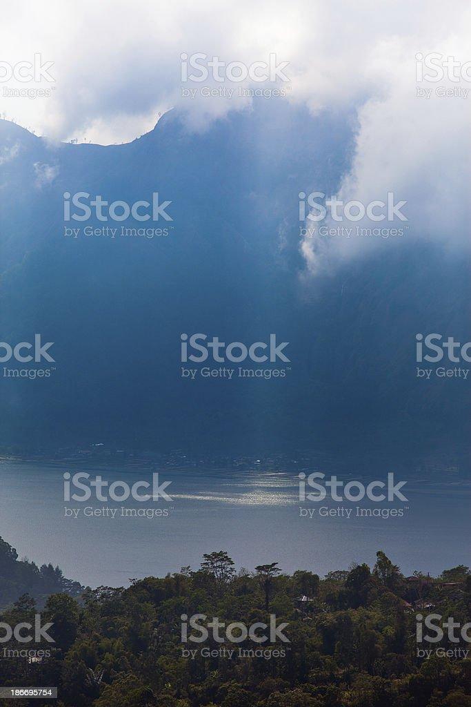 Batur Volcano in Indonesia, Bali royalty-free stock photo