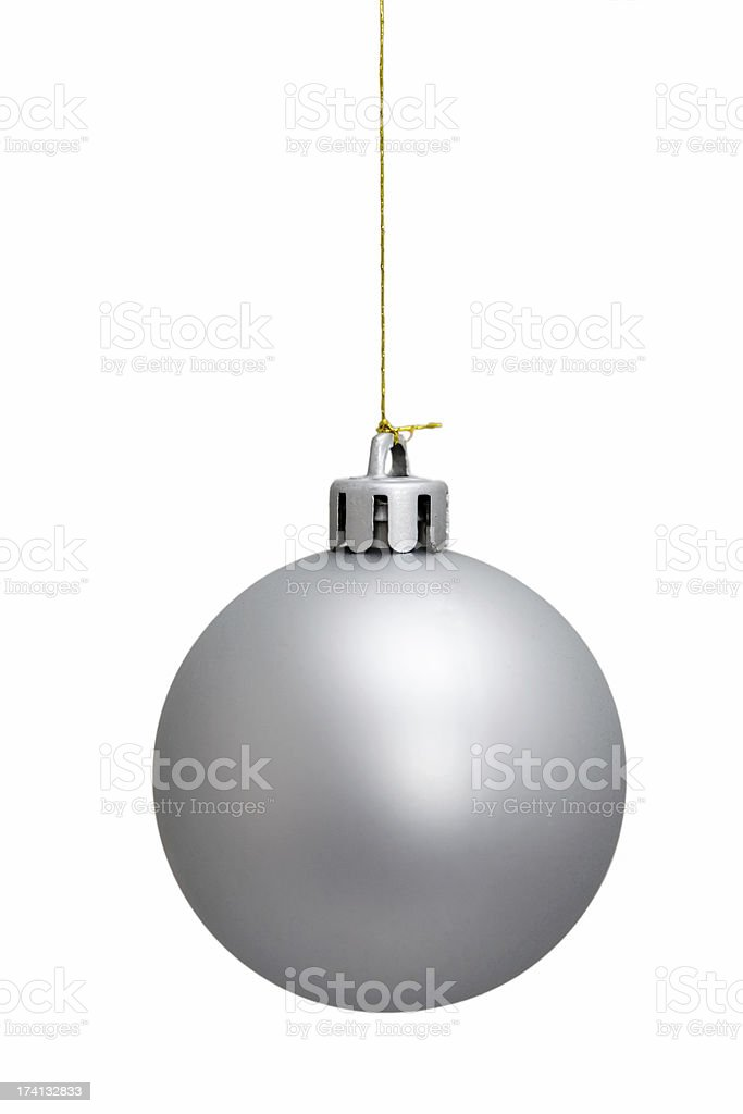 Bauble - silver royalty-free stock photo
