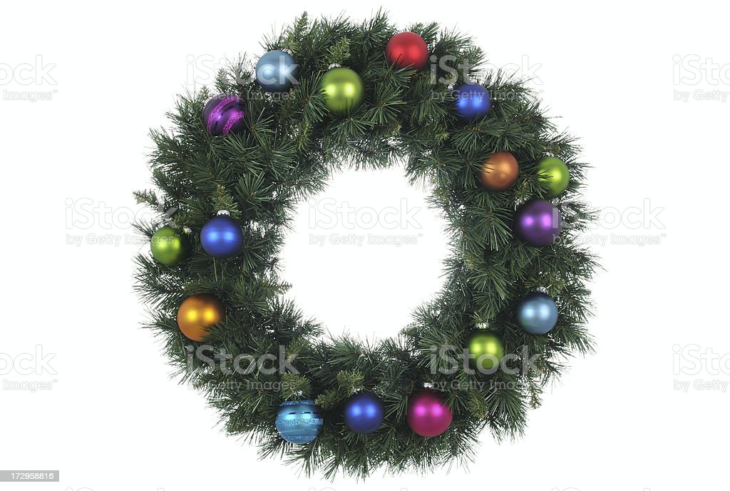 Bauble Wreath (XL) royalty-free stock photo