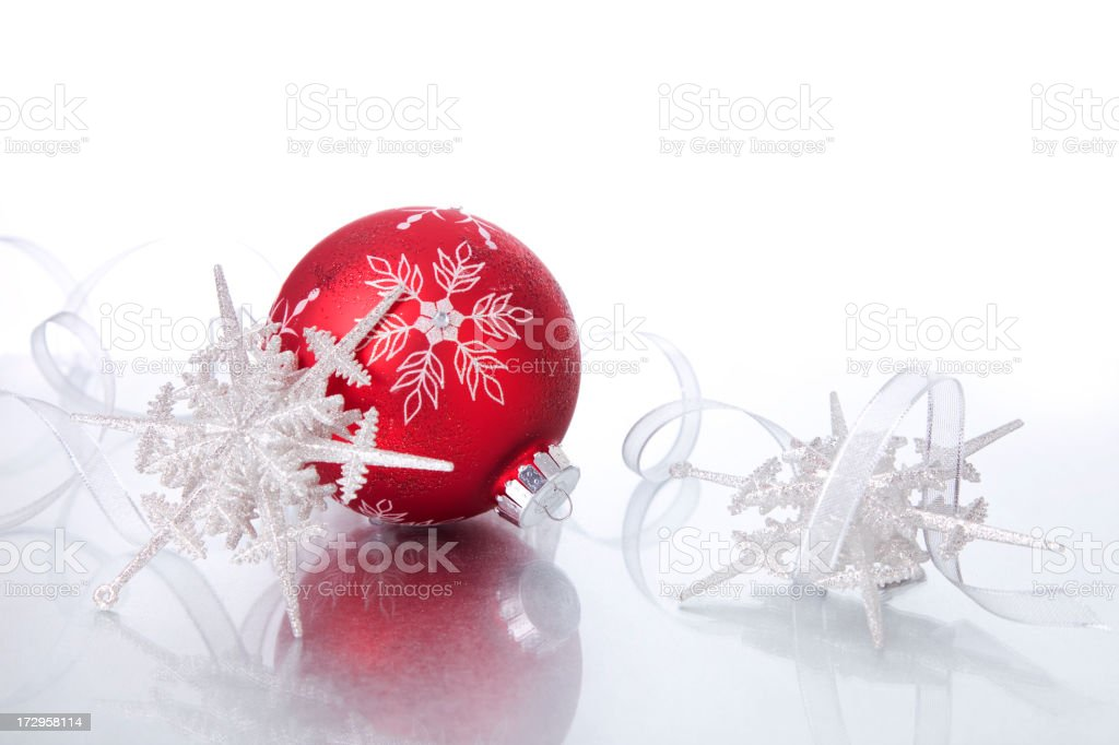 Baubles and Snowflakes (XXL) royalty-free stock photo
