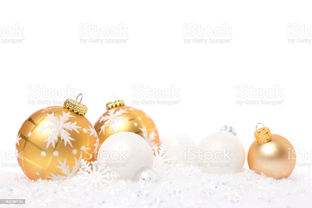 Baubles and Snowflakes stock photo