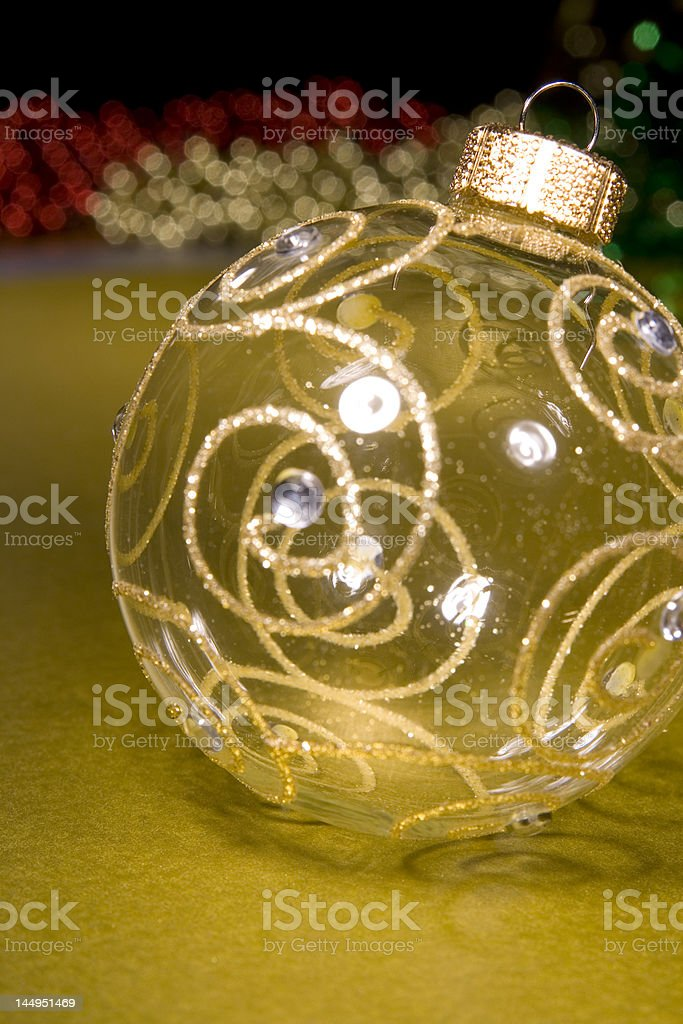 Baubles for christmas tree decorations stock photo