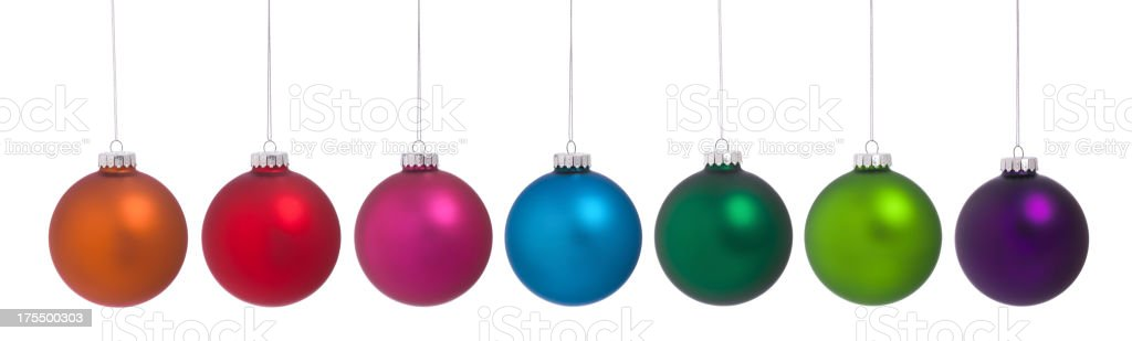 Baubles Isolated on White stock photo