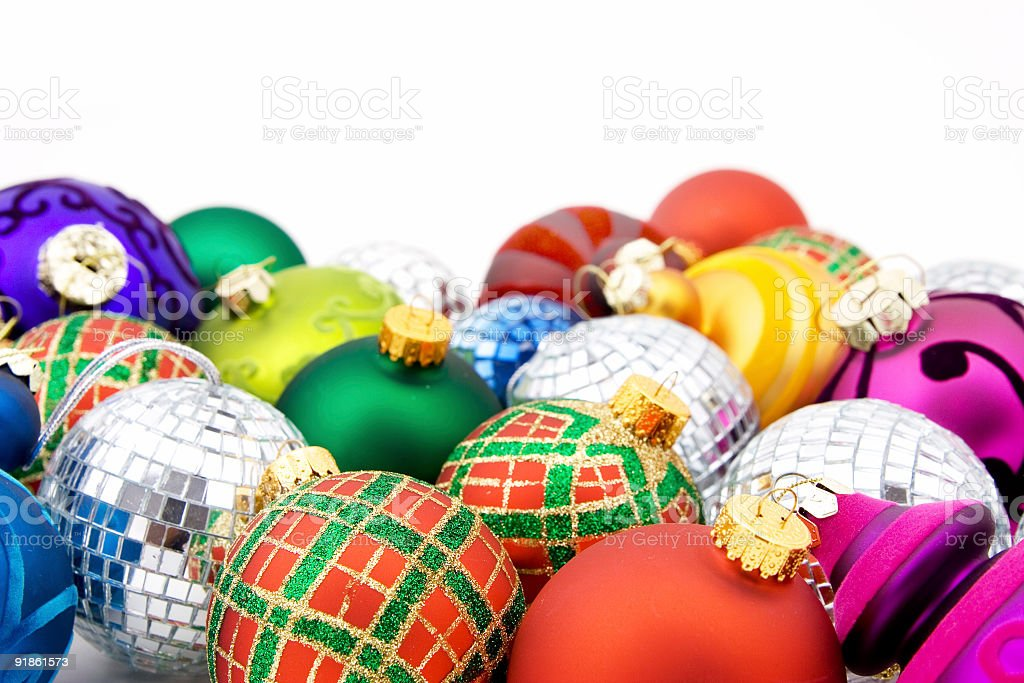 Baubles on white royalty-free stock photo