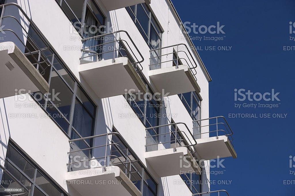 Bauhaus Dessau residental home detail royalty-free stock photo