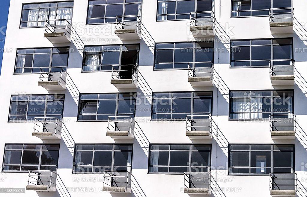 Bauhaus Dessau residental home royalty-free stock photo