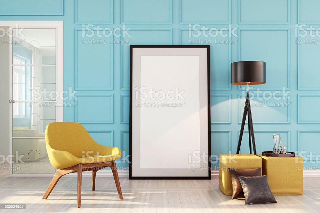 Bauhaus Interior Wallart Copyspace stock photo