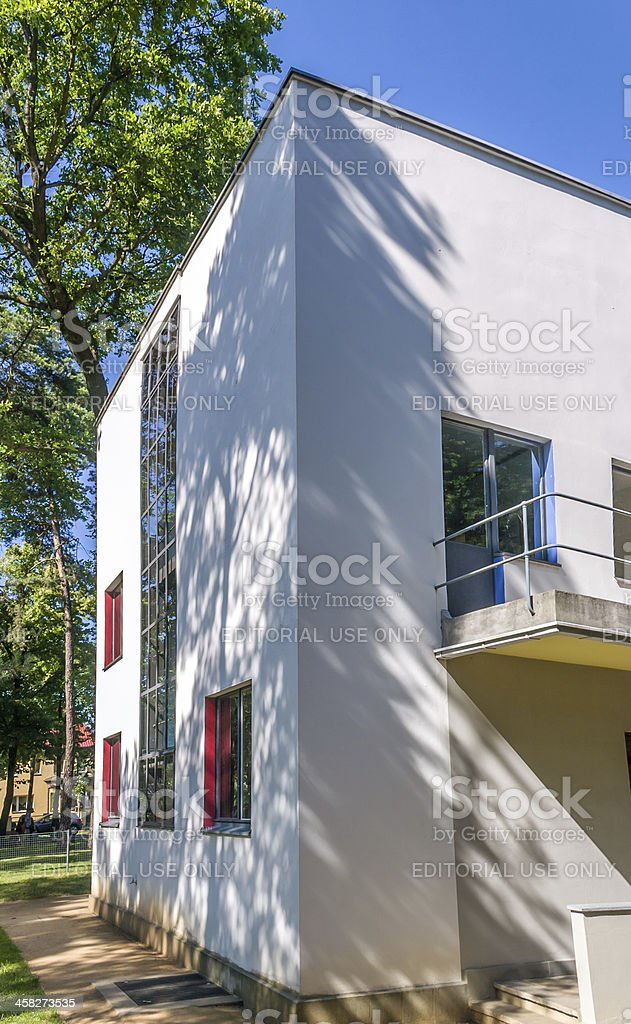 Bauhaus Masters Houses in Dessau, Germany, Built 1925 royalty-free stock photo