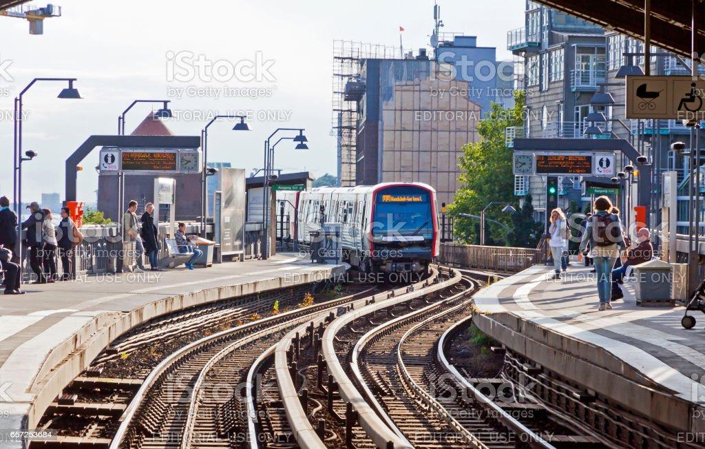 Baumwall U-Bahn Station in Hamburg, Germany stock photo