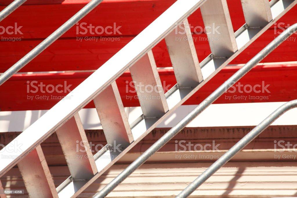 Baustelle, Gerüst, Altbau, Leiter stock photo